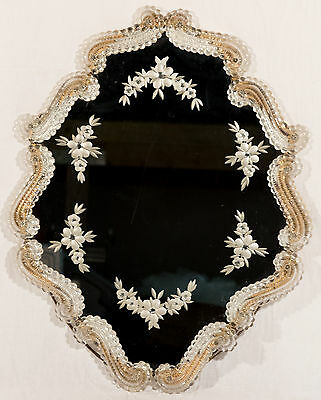Antique Venetian Glass Wall Mirror