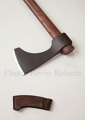 "Hanwei Bearded Viking Fighting/Throwing  Battle Ready Axe Antiqued 24.5""  Sheath"