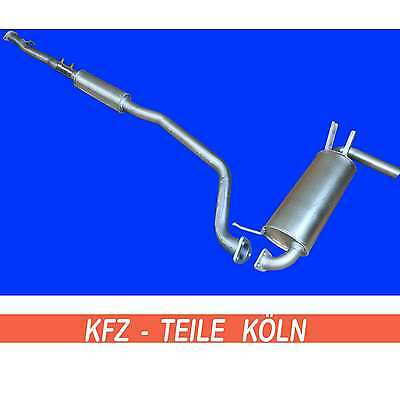 Mitsubishi Outlander I 2.0 4WD 2.4 4WD - Agent + muffler exhaust system