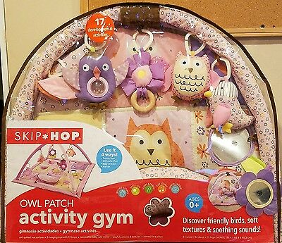 NEW Skip Hop Owl Patch Activity Soft Quilted Gym Mat Tummy Time