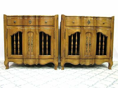 *PAIR* John Widdicomb Provincial Style Nightstands / End Tables