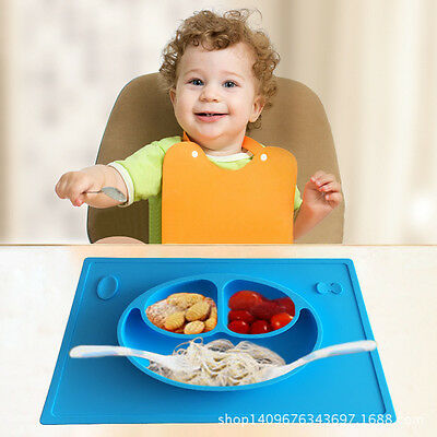 Silicone Kids Placemat, Super Self Suction Baby Feeding Mat Fits Most Highchair
