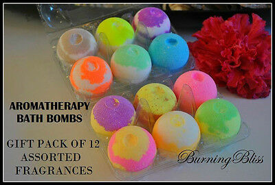 Aromatherapy Bubble Bath Bombs with Coconut Oi GIFT PACK OF 12 Bath Fizzies