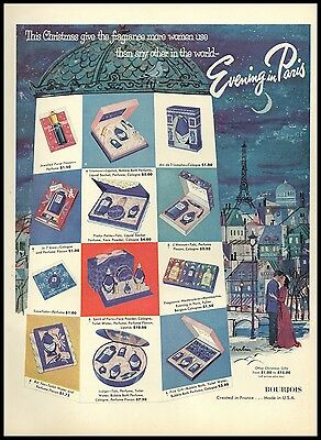 1954 Evening in Paris Gift Sets Vintage Photo AD