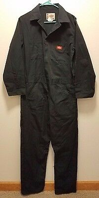 Dickies Long Sleeve Carpenter Work Coveralls Jumpsuit Suit Mens M Regular Navy