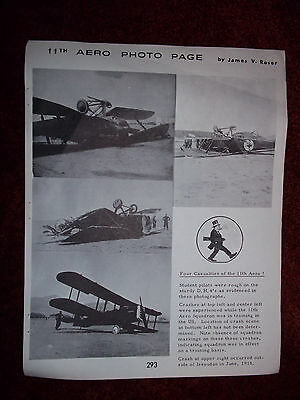 Vintage Cross & Cockade Newsletter Page 11th Aero Lonnie Raidor Tyrrel Hawker