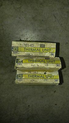 Lot Of 3 New Square D Dd185 Overload Relay Thermal Unit Dd-185