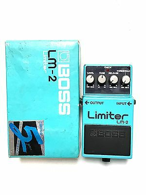 Boss LM-2, Limiter, Made In Japan, 1988, Original Boxing, Guitar Effect Pedal