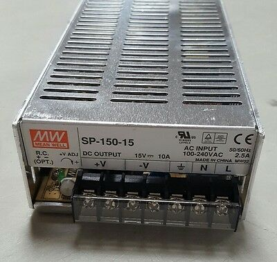 new Out of Box MEAN WELL MW SP-150-15 150w 15V 10A SWITCHING POWER SUPPLY w/ PFC