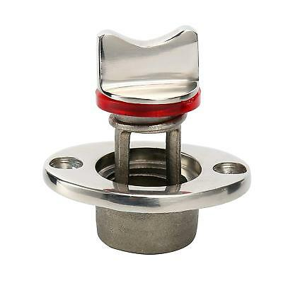 Oval Garboard Drain Plug Stainless Steel Boat Fits 1'' Hole, Thread for 3/4''