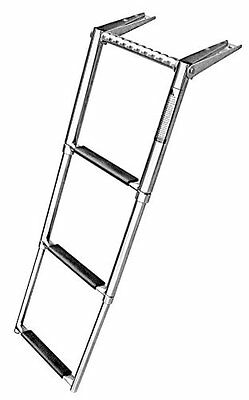 HOT!!! 3 Step Telescoping Swim Marine Boat Ladder Stainless with Built in Handle