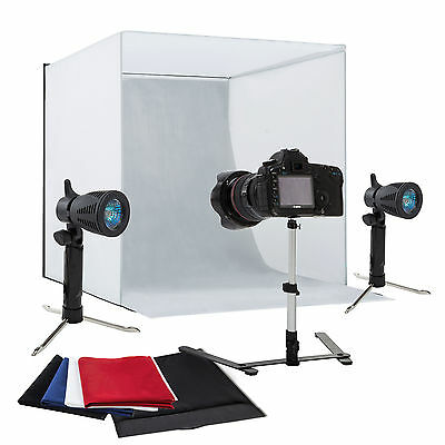 "24"" Photography Light Tent Backdrop Kit Cube Lighting Kit In A Box Photo Studio"