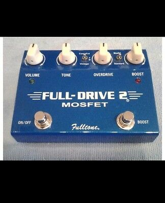 Fulltone Full Drive 2 MOSFET Overdrive Distortion Boost Guitar Effects Pedal