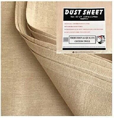 5 X Heavy Duty 100% Cotton Twill Professional Decorating Large Dust Sheets