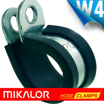 Rubber Lined Stainless Steel P Clips W4 304 - Mikalor P Clips Epdm Rubber Lined
