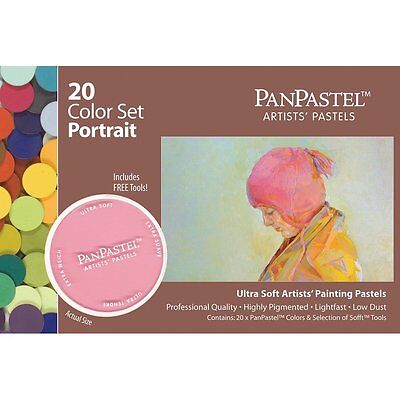 Armadillo Art Craft Panpastel Ultra Soft Artist Pastel Portrait Set Pan Format