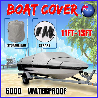 Boat Cover 600D 11-13ft 3.3-3.9m Trailerable Marine Grade Heavy Duty Waterproof