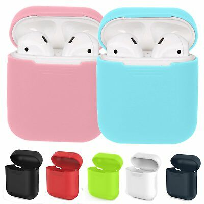 Soft Silicone Shock Proof Protective Case Cover for Apple AirPods Earphones GB