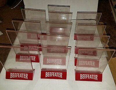 Lot Of 13 Used Beefeater Gin Bar Pub Restaurant Menu Holders