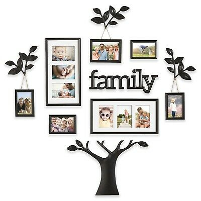 12-Piece Picture Photo Frame Set Family Tree Collage Gallery Wall Art Decor