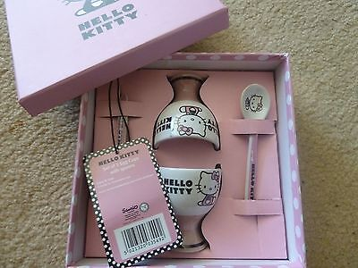 Hello Kitty Gift Set Egg Cup and Spoon