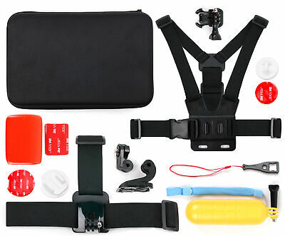 Action Camera 14-in-1 Accessories Bundle W/ Case for EasyPix GoXtreme Rallye