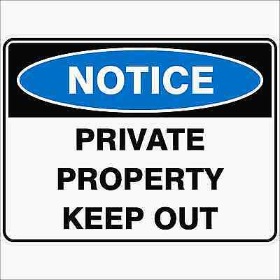 Safety Sign - PRIVATE PROPERTY KEEP OUT