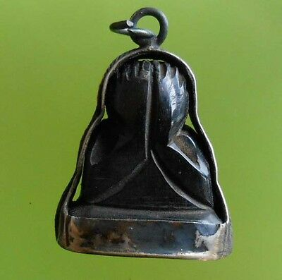 Awesome! Real Pidta Lp Thong Buddha Thai Amulet Very Rare !!!