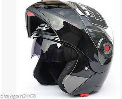 Full Open Face Motorcycle Helmet Dual Visor Modular Flip Up New Sun Shield