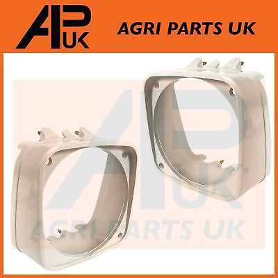 PAIR Ford New Holland 10 Series 2310 - 7810 Tractor Grill Head light lamp Cowls