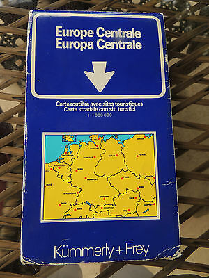 VTG Central Europe Folded Road Map  Kummerly & Frey Berne