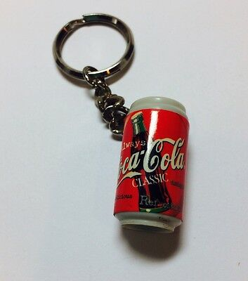 Vintage Coca Cola Collectible Keychain Coke Classic Red Can Novelty