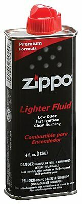 Zippo Black Fluid Lighter 12 Matte Hour Hand Warmer Cigarette Ounce Retro Slim
