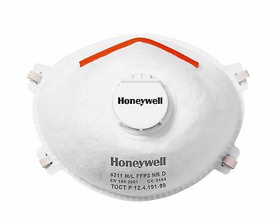 Honeywell Dust Masks Respirator FFP3 Valve & Safety Protection Face Steel 10 PCS