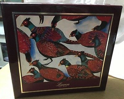 Lauren Ralph Lauren square decorative box bird pheasant design