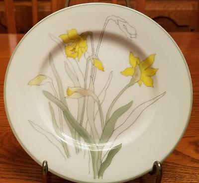 Watercolors Daffodil by BLOCK - 4 Bread & Butter Plates & 1 Salad Plate