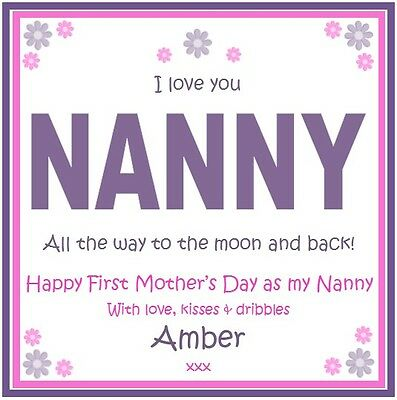 Personalised Drink Coaster Nanny, Grandma, Auntie, Godmother- First Mother's Day