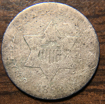 1852 3CS Three Cent Silver