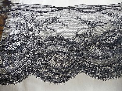 Antique Black Chantilly Lace Trim  Floral Lace Heirloom Sewing Etc.