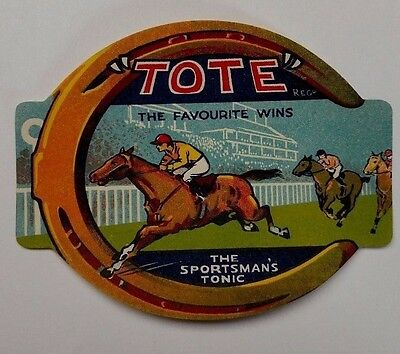 Original Tote The Favourite Wins The Sportsman's Tonic Vintage Soda Label