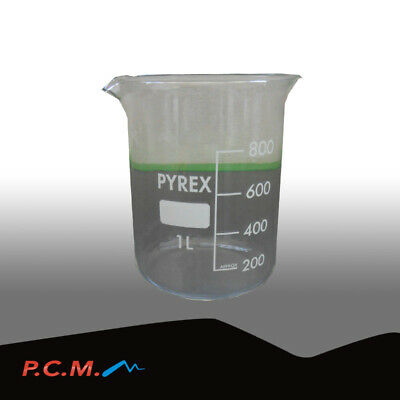 Becker Becher Bicchiere Da 1 Lt In Pirex Attrezzature Laboratorio Pcm 3368