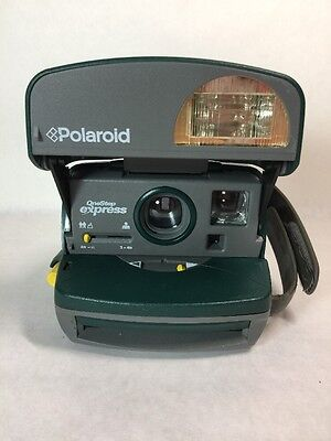Polaroid Instant Camera  600 One Step Express Film  Green Vintage Tested