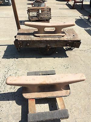 Vintage Pair Of Ship Dock Cleats 150Lbs Each