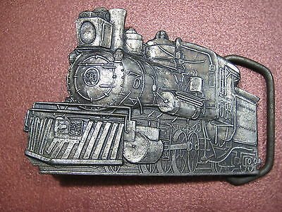 Railroad Train  Belt Buckle Vintage Steam Locomotive Collectible Fits 1-3/4""