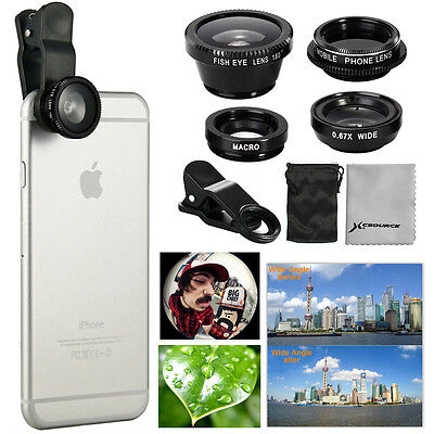 180° Obiettivo Lente Fisheye Grandangolo CPL Kit per iPhone 5S 5C 6 Plus DC641