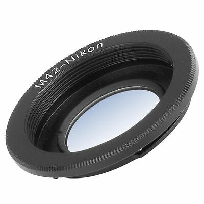 Adapter per M42 Lens to Nikon F Mount Camera D7100 D5200 D3200 With Glass DC305