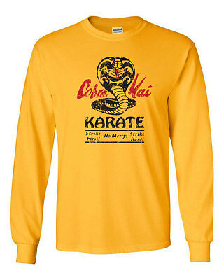 147 Cobra Kai Long Sleeve Shirt dojo karate movie 80s kid costume no mercy retro