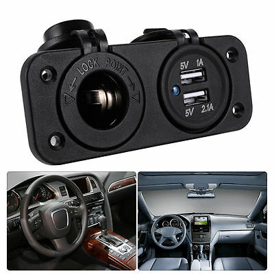 Accendisigari Auto Presa Dual USB 12V Car Cigarette Lighter Socket Charger MA372