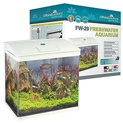 Fish Aquarium Tank Nano Led Tropical Coldwater Light 29 Litres Complete