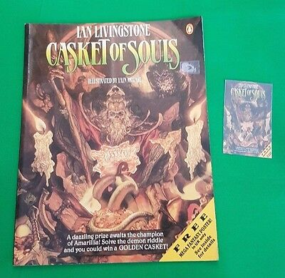 Casket of Souls ***SOFTBACK!!*** Fighting Fantasy Ian Livingstone Puffin